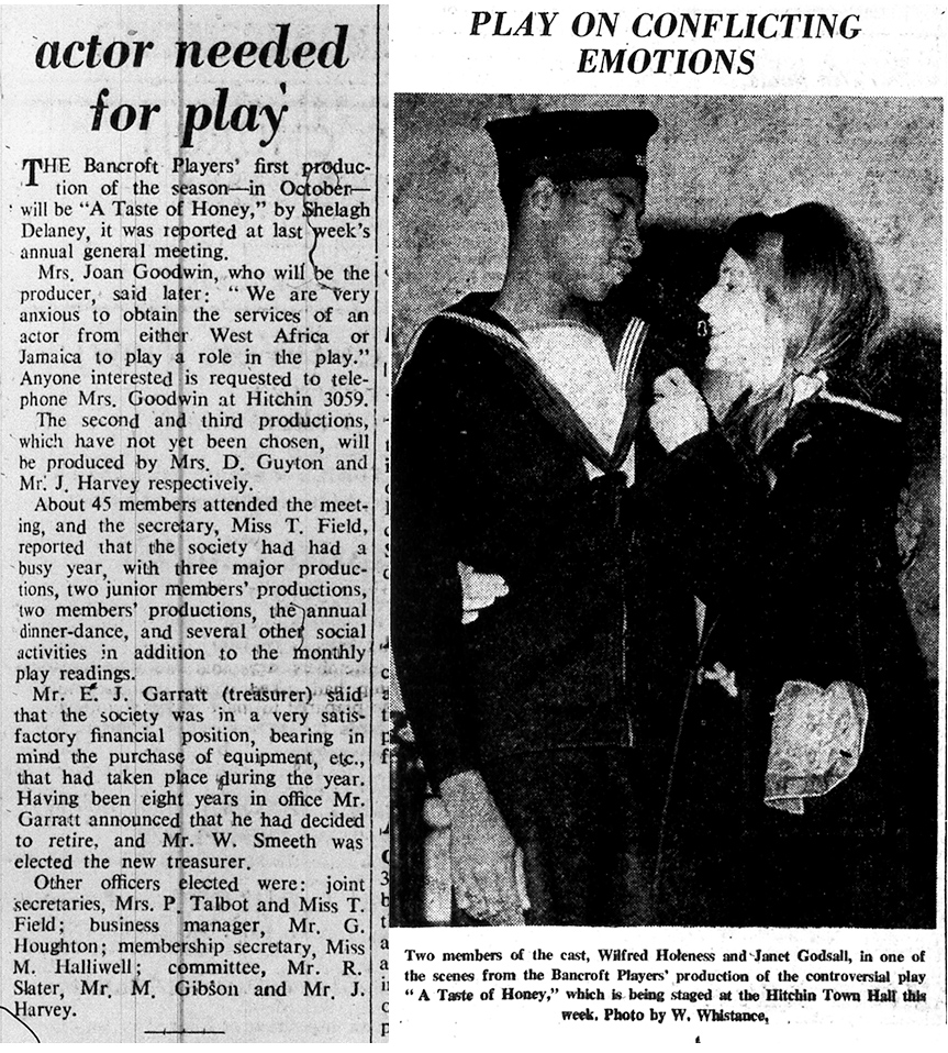 Photos of Bancroft Players | Herts and Beds Citizen, July and October 1968