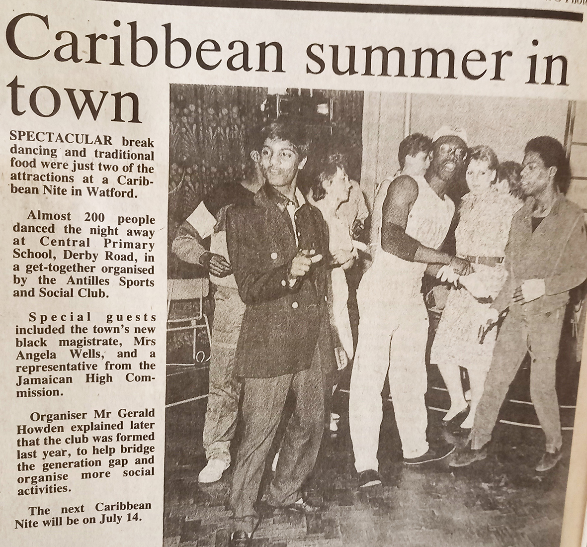 Photograph of Caribbean night | West Herts and Watford Obsever, 29 June 1984