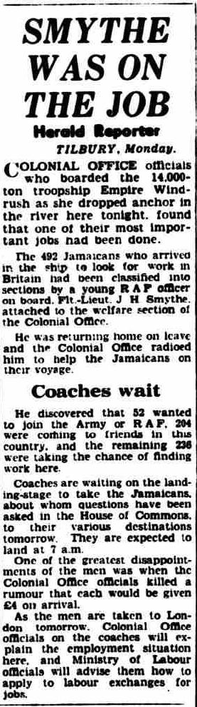 newspaper report | Daily Herald, 22 June 1948