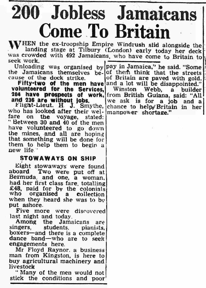 newspaper report | Shields Daily News, 22 June 1948