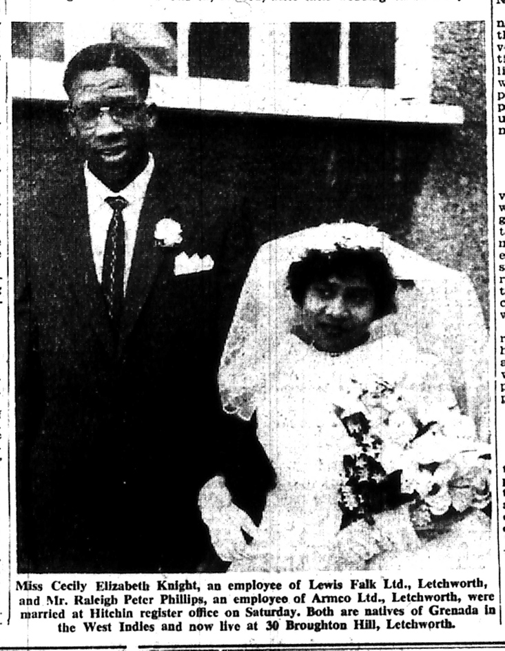 Wedding photo | Letchworth and Baldock Citizen, 17 March 1961