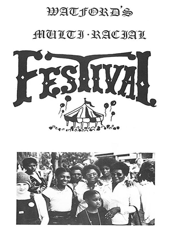 Front cover of Watford Multi Racial Festival programme | HALS (Acc 4959)
