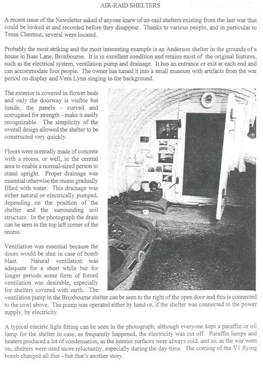 An Anderson Shelter in Broxbourne | Hertfordshire Archives and Local Studies