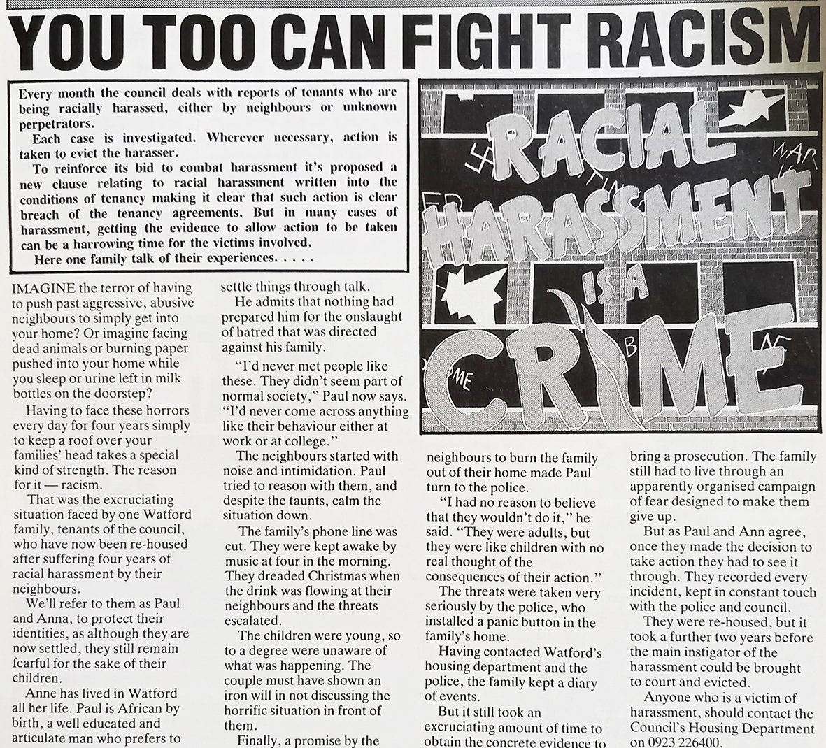Anti racism article | HALS