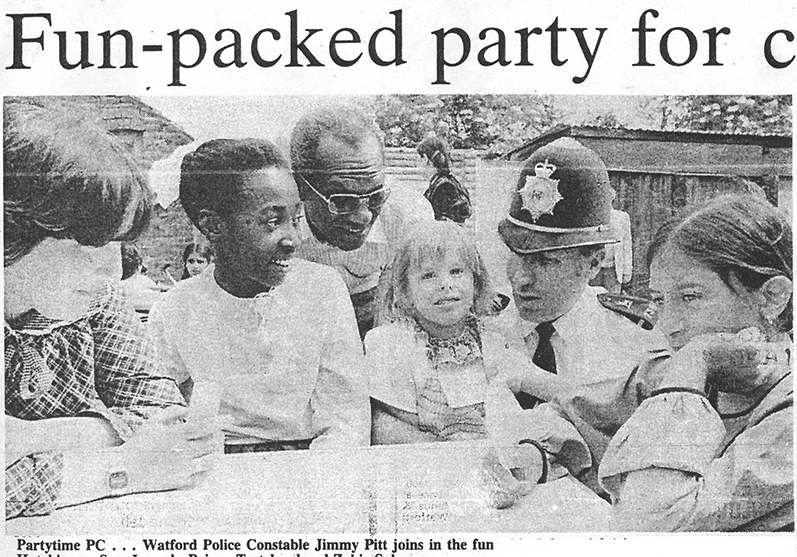photo of a children's party | West Herts and Watford Observer, 29 June 1984