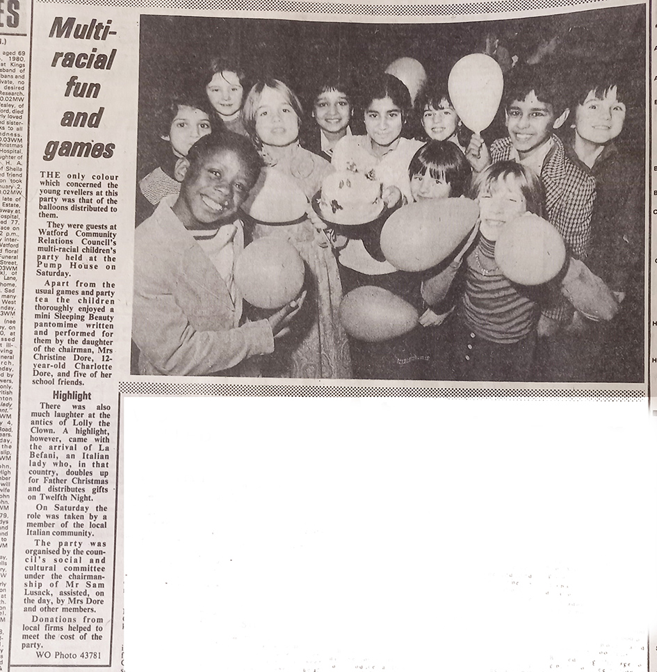 Photo of a children's party | West Herts and Watford Observer, 11 January 1980
