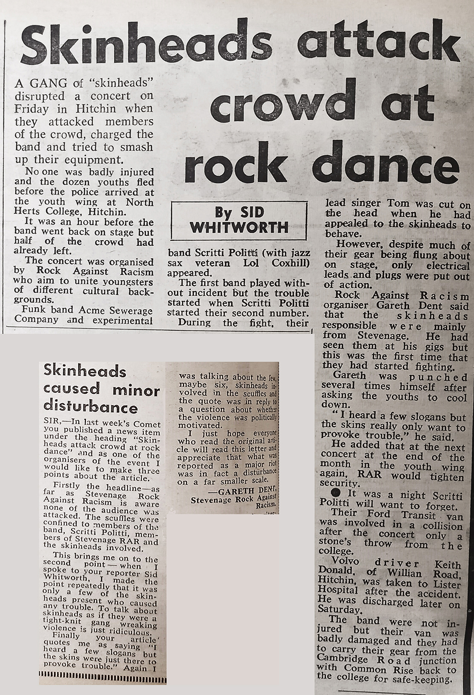 Rocka against racism newspaper articles | Stevenage Comet, 11 July 1979
